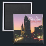 """Berlin Germany Travel Souvenir Photo Fridge Magnet<br><div class=""""desc"""">Tip: dates added to your magnets make a fun chronology of your travels.</div>"""