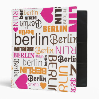 Berlin germany typography photo album binder