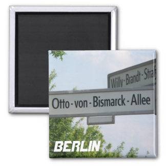 Berlin, Germany Willy Brandt Street 2 Inch Square Magnet