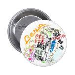 Berlin Graffiti Girl 2 Inch Round Button