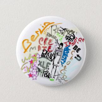 Berlin Graffiti Girl Pinback Button