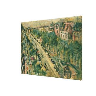 Berlín, guarida Linden, 1922 de Unter Impresiones En Lona Estiradas