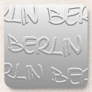 Berlin in Bas-Relief (1) Beverage Coaster