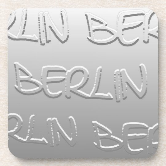 Berlin in Bas-Relief (1) Beverage Coaster