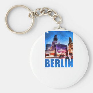 BERLIN, Kaiser Wilhelm Memorial Church, Illu Keychain