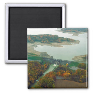 Berlin Lake and Dam 2 2 Inch Square Magnet