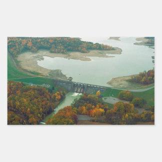 Berlin Lake and Dam 2 Rectangular Sticker