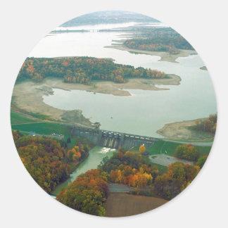 Berlin Lake and Dam 2 Classic Round Sticker