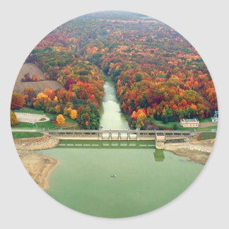 Berlin Lake and Dam Classic Round Sticker
