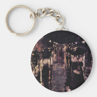 Berlin, Leipziger Street by Lesser Ury Key Chains