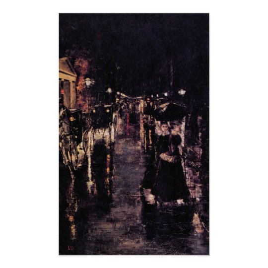 Berlin, Leipziger Street by Lesser Ury Poster