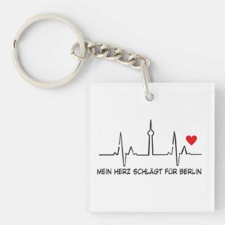Berlín Llavero Cuadrado Acrílico A Una Cara