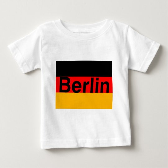 Berlin Logo in Black on German Flag Baby T-Shirt