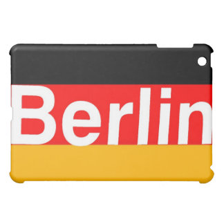 Berlin Logo in White on German Flag Cover For The iPad Mini