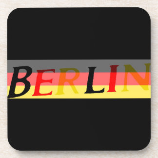 Berlin Logo on German Flag Beverage Coaster