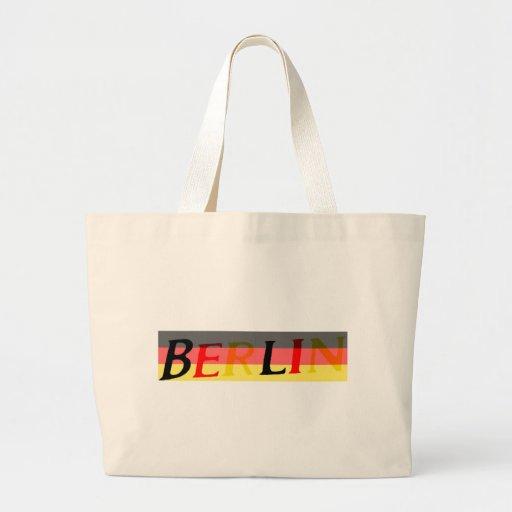 Berlin Logo on German Flag Tote Bag