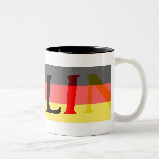 Berlin Logo on German Flag Two-Tone Coffee Mug