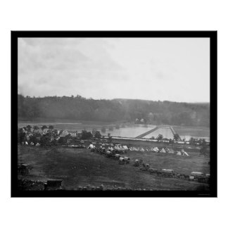 Berlin, Maryland Pontoon Bridge 1862 Poster