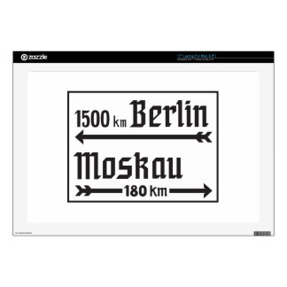 "Berlin-Moscow, II World War, Russia Decals For 17"" Laptops"