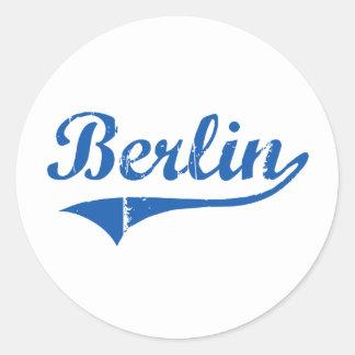 Berlin New Hampshire Classic Design Round Sticker