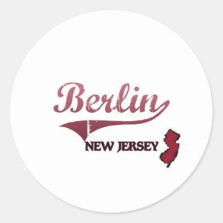 Berlin New Jersey City Classic Round Sticker