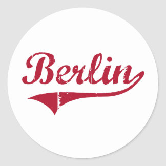 Berlin New Jersey Classic Design Round Stickers