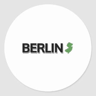 Berlin, New Jersey Round Stickers