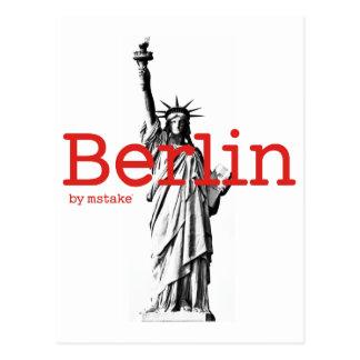 Berlin & New York mstake Postcard