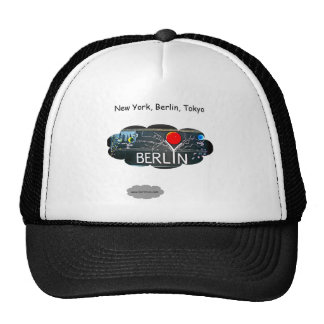 Berlin New York Tokyo Trucker Hat