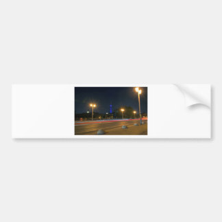 Berlin night landscape bumper sticker