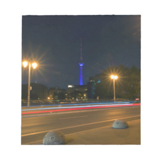 Berlin night landscape notepad