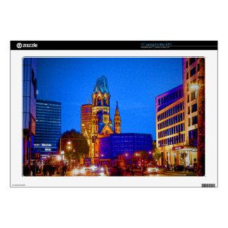 Berlin nightlife - Kaiser Wilhelm Memorial Church Skins For Laptops
