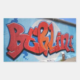 Berlín Pegatina Rectangular