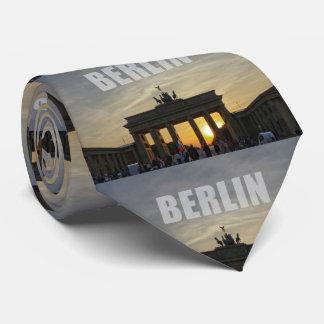 BERLÍN, puesta del sol en la puerta de Brandeburgo Corbata Personalizada