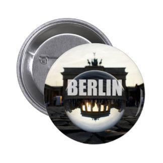 BERLÍN, puesta del sol en la puerta de Brandeburgo Chapa Redonda 5 Cm
