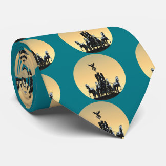Berlin Quadriga Brandenburg Gate 002.1.4.2 rd Neck Tie