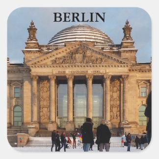 BERLIN Reichstag_001.03 Square Sticker
