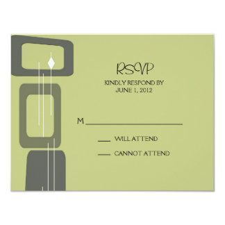 Berlin Response Card:  Lime 4.25x5.5 Paper Invitation Card