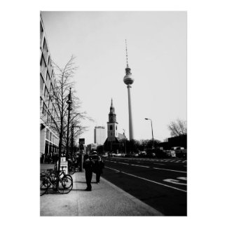 Berlin road photography - street photography poster