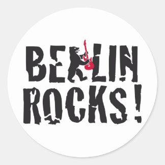 Berlín rocks pegatina redonda