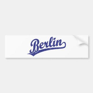 Berlin script logo in blue car bumper sticker
