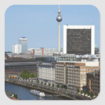 Berlin skyline, Germany Square Sticker