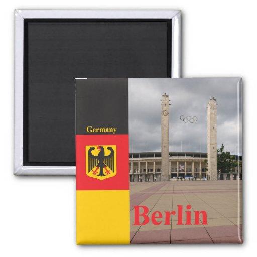 Berlin stadium in Germany Fridge Magnet
