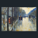 "Berlin Street in Late Fall, fine art Placemat<br><div class=""desc"">Berlin Street in Late Fall,  vintage 1920 painting by Lesser Ury,  cloth placemat.</div>"
