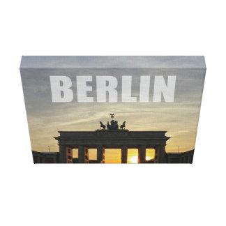 BERLÍN, Sunset at Brandeburgo the Gate Lona Envuelta Para Galerias