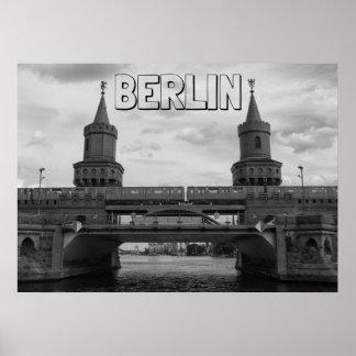 BERLIN, The Oberbaum Bridge 001.04.F. Poster