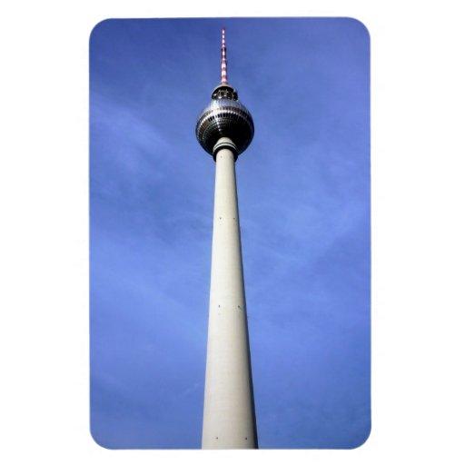 berlin tower rectangle magnet