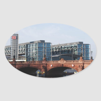 Berlin Train Station and Park - DB Oval Sticker