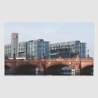 Berlin Train Station and Park - DB Rectangular Sticker