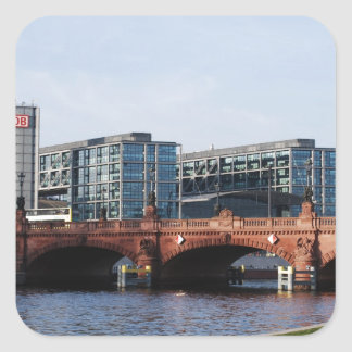 Berlin Train Station and Park - DB Square Sticker